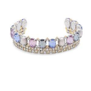 Alexis Bittar Multi- Crystal Cuff Bracelet